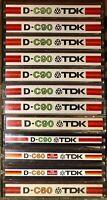 LOT OF 12 TDK 9 D-C90 & 3 D-C60 CASSETTE TAPES SUPER CLEAN 1977 - 1979 JAPAN