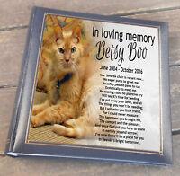 """Large luxury photo album memory book, 200 6x4"""" photos Cat pet in loving memory"""