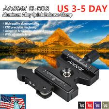 "Quick Release Clamp For Arca Swiss QR Plate Ball Head Tripod Camera 1/4"" US U2V8"