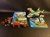 LEGO City 60021 Cargo Heli plane 100% Complete with Minifigures Manuals Retired
