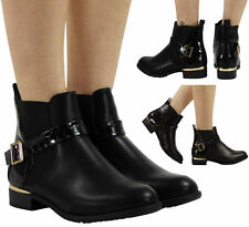 Elasticated Synthetic Ankle Boots for Women