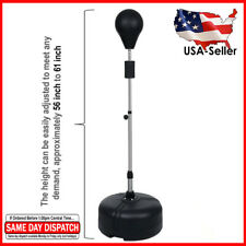 New Boxing Speed Ball Punching Bag Mma Fitness Training Kit Punch Standing Black