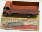 DINKY #511 GUY 4 TON LORRY, RED-BROWN CAB, CHASSIS & HUBS, 1st TYPE CAB, VG+/BOX