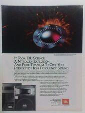 retro magazine advert 1984 JBL DIAMOND SURROUND