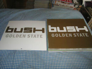 BUSH-(golden state)-1 POSTER FLAT-2 SIDED-12X12-NMINT-RARE
