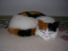 Realistic Lifelike Cat Sleeping Rabbit Fur Furry Animal C306CA