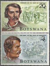 BOTSWANA 1973 DR. DAVID LIVINGSTONE Sc#100-1 COMPLETE MNH SET 0758