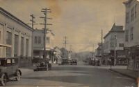 Real Photo Postcard Business Street in Crescent City, California~119803