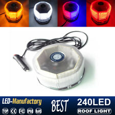 240 LED Car Roof Top Emergency Warn Flash Strobe Rotating Round Beacon Light 12V