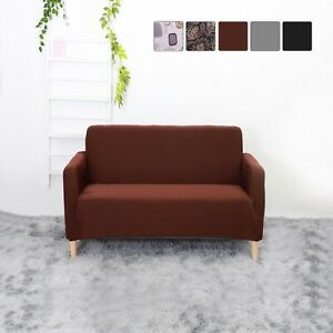 Sofa Covers Dust Scratche Settee Couch Elastic Stretch Set 2 Seater Protector