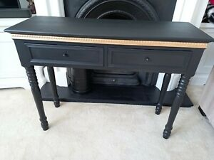 Belgravia Refurbished Gold Gilded Drawer Console/Dressing Table With Decoupage