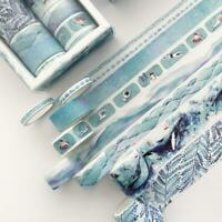 8 Rollen Washi Tape Set Klebeband DIY Papier Sticker Tape Best Scrapbookin U3X4
