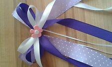 Wunderschöne Schleife Schultüte Zuckertüte Geschenk  Blümchen rosa lila weiß