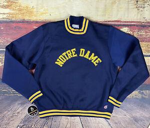 Vintage Mens Champion NOTRE DAME SWEATSHIRT Shirt jersey USA Football 60s 70s L