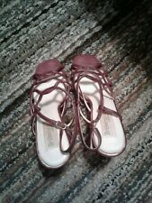 woman platform fashion shoes size 9 slightly use color brown