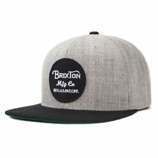 Brixton Men's Wheeler SnapBack Hat Heather Grey Black One Size