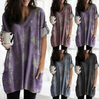 Plus Size Womens Summer T Shirts Short Sleeve Blouse Casual Loose Tunic Tee Tops