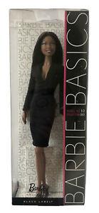 NRFB MATTEL BARBIE DOLL AA BASICS MODEL MUSE NO. 10 COLLECTION 001 BLACK LABEL
