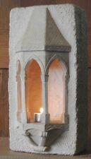Mittelalter Steintempel Wandnische Windlicht Landhausstil (Kunststein)