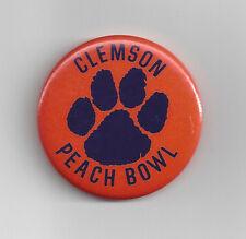 1979 Clemson Tigers Peach Bowl pin button vintage college football original