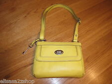 Fossil ZB5559724 Marlow Top Zip Citrus yellow Leather purse 148.00 NWT*^