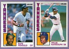 1984 OPC O-PEE-CHEE New York Yankees Team Set