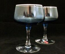Fostoria SOMETHING BLUE 2 Champagne/Tall Sherbets GREAT CONDITION