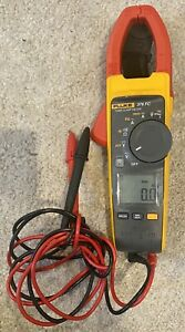 Fluke 376 FC True-RMS AC/DC Clamp Meter Good Condition Bundle w/ leads