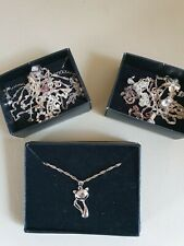 Job Lot Sterling Silver Jewellery not scrap.  Intact necklaces and earrings