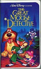 DISNEY'S CLASSIC THE GREAT MOUSE DETECTIVE (BLACK DIAMOND) (VHS, 1992, # 1360)