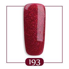 RS Nai UV Gel Polish LED Sequined Glitter Soak-off Nail UV Gel Red Colour 15ml