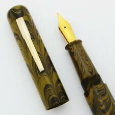 Ranga 4C Ebonite Fountain Pen - Yellow Ripple, Hand Made, JoWo #6 Nib C/C (New)