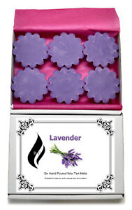 6 x Lavender Scented Wax Tart Melts