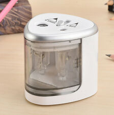 Electric Dual Holes Automatic Pencil Sharpener Battery Operated Office School