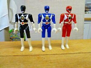 3 x Vintage 1993 Mighty Morphin Power Rangers Action Figures