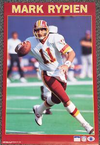 Rare MARK RYPIEN 1990 Washington Redskins Starline NFL Action Vintage POSTER