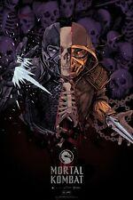 MONDO Mortal Kombat Poster Oliver Barrett Print Art NEW