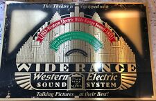 Western Electric Brass Vintage Theater Plaque 1940s