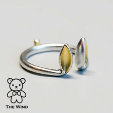 Bunny Ears and Tail Open Adjustable Ring Easter Rabbit 925 Sterling Silver
