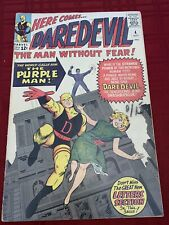 Daredevil #4 (1964, Marvel)🔥🗝1st killgrave (purple man)