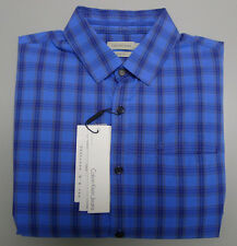 Calvin Klein Jeans Slim Fit Long Sleeve Shirt Blue Check XL Large