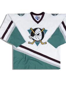 Mighty Ducks Of Anaheim Hockey Top Size Youth S M StArter Vtg Few marks