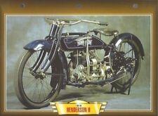 CARTE FICHE MOTO HENDERSON H 1918