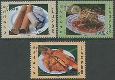 LAOS N°1670/1672** Gastronomie, 2007  Traditional foods Sc#1718Q-1718S MNH