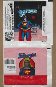 TOPPS  SUPERMAN  &  SUPERGIRL   WAX  WRAPPER