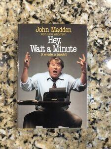 John Madden Signed Wait A Minute Book Oakland Raiders Super Bowl Champ HOF NFL
