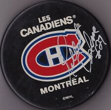 Gilbert Delorme Montreal Canadiens Autographed Hockey Puck W/COA