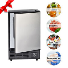 Smad Undercounter Built In Ice Maker Stainless Steel Compact Ice Cubes Machine