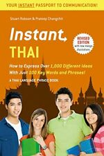 Instant Phrasebook: Instant Thai: How to Express 1,000 Different Ideas with Just