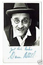 Warren Mitchell Television Actor -  Alf Garnet Hand Signed photograph 5 x 3